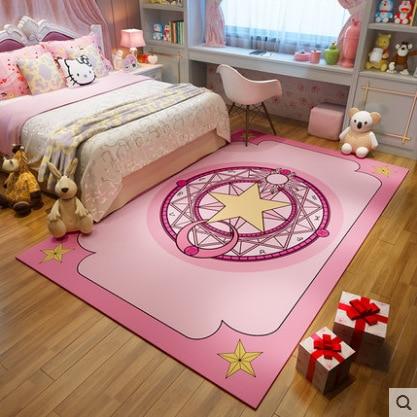 160CM Play Mat Anime Cardcaptor Sakura Clow Card Baby Mat Newborn Infant Crawling Blanket Cotton Mats For Kids