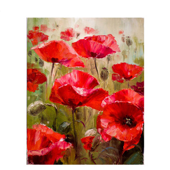 GATYZTORY DIY Painting By Numbers Poppy Flowers HandPainted Oil Painting Drawing On Canvas Adults Child  Home Decor gatyztory diy painting by numbers flowers canvas drawing figure oil painting handpainted home decor gift