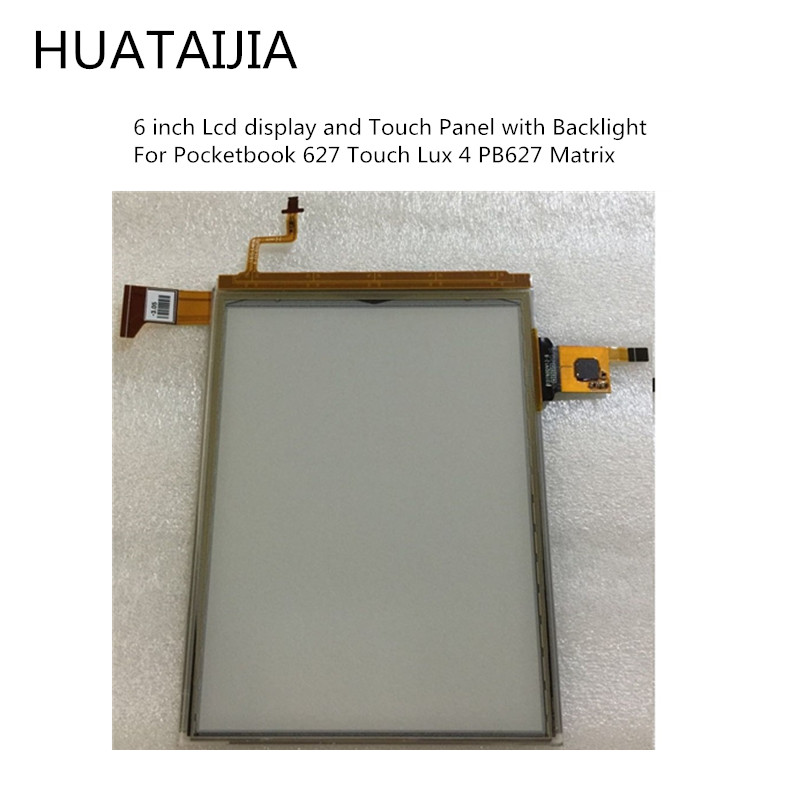 6 inch Lcd display and Touch Panel with Backlight For <font><b>Pocketbook</b></font> <font><b>627</b></font> Touch Lux 4 PB627 Matrix For <font><b>Pocketbook</b></font> Touch Lux 4 <font><b>627</b></font> image