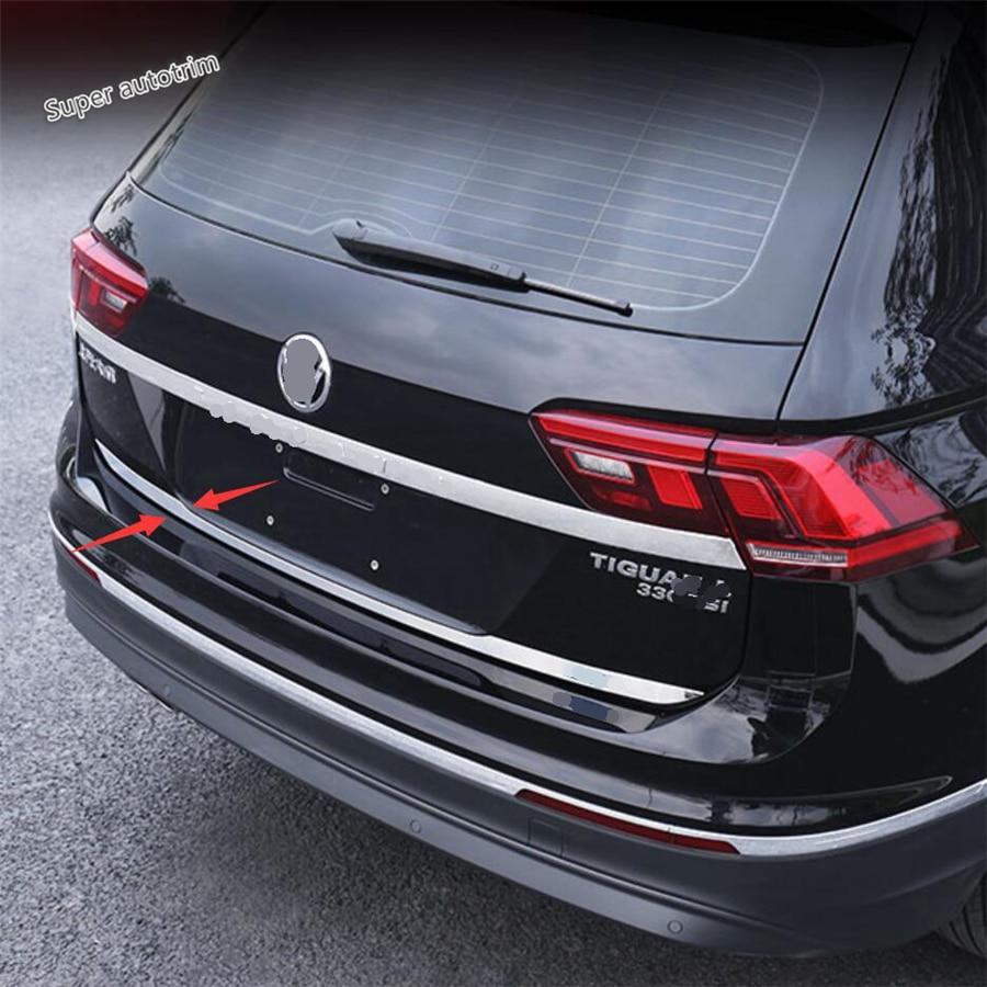 For VW Tiguan MK2 2016-2019 Chrome Rear Trunk Tailgate Door Lid Cover Trim Strip
