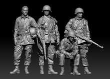 1 35 zestaw figurek z żywicy Unassambled Unpainted 1077(4 figury bez podstawy) tanie tanio Żywica 1 35 kits 14 lat resin kits