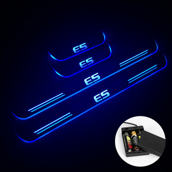 LED Door Sill For Lexus ES250 ES300 ES350 Streamed Light Scuff Plate Acrylic Battery Car Door Sills Accessories image