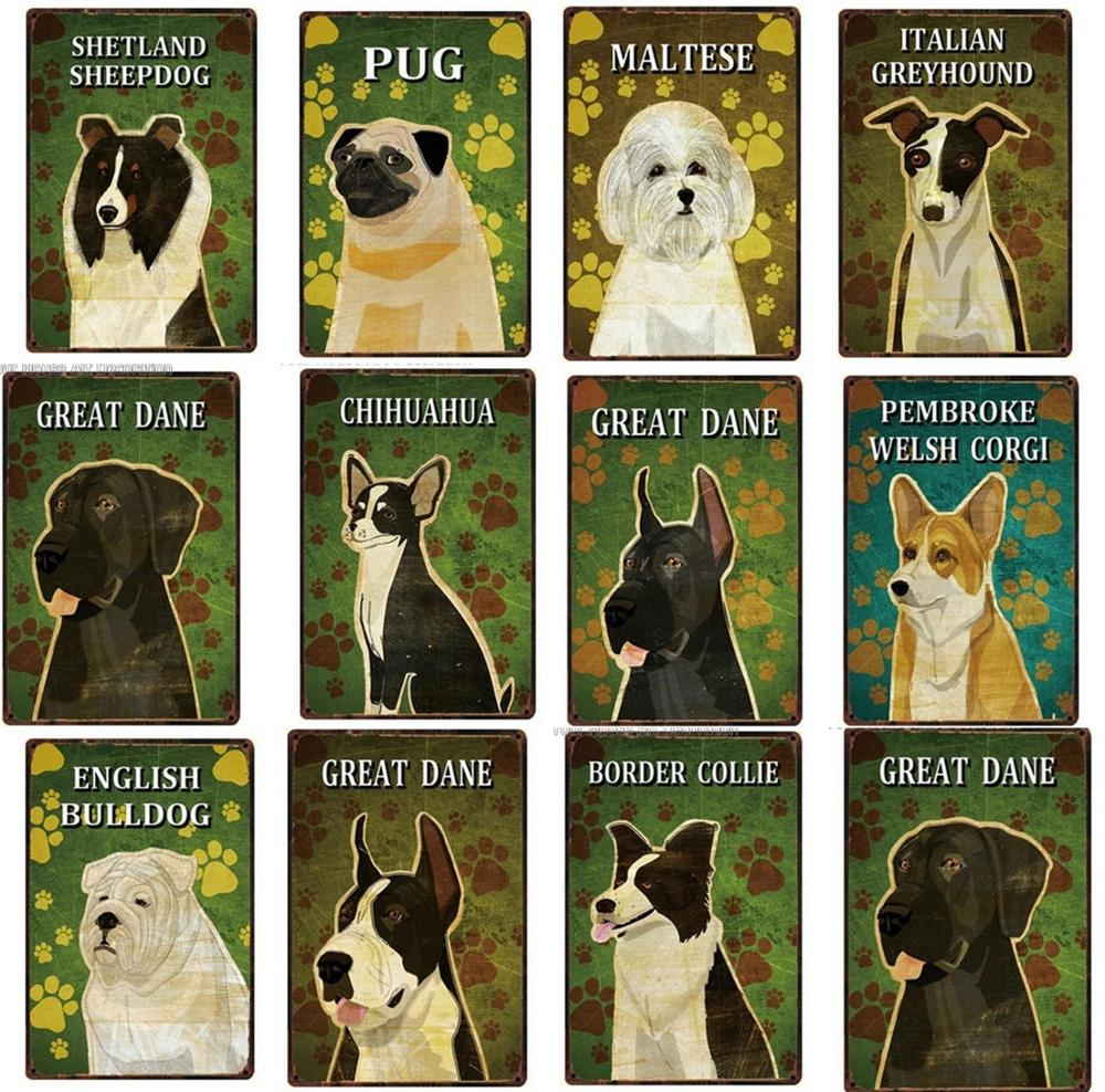 """FRENCH BULLDOG 12/""""X 8/"""" METAL SIGN  WITH CHARACTER DESCRIPTIONS 30X20cm// dogs"""