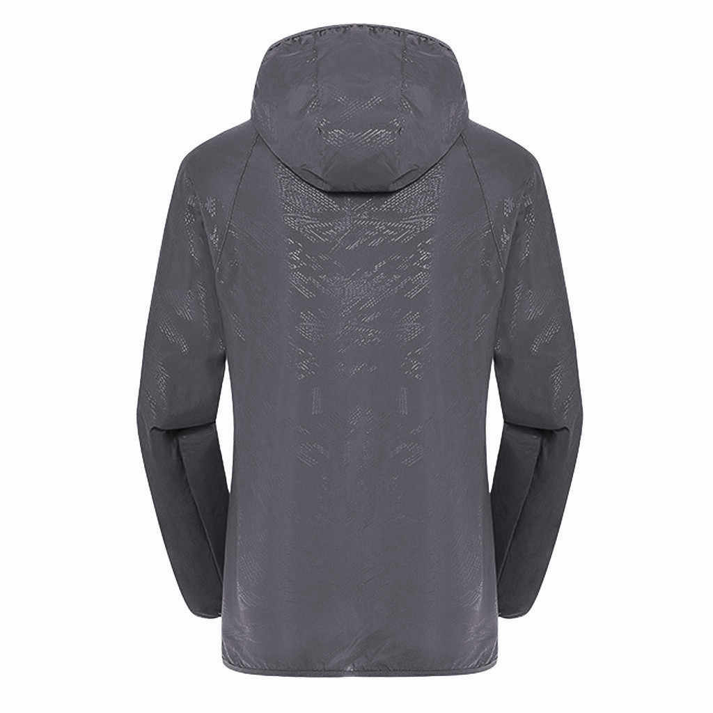 JAYCOSIN 男性のコート夏春秋男性防風ジャケットコートの男超軽量防雨ウインドブレーカートップ固体ポリエステル