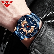 NIBOSI New Blue Watch Mens Watches Top B
