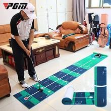 PGM Golf Putting Green Golf Putter Putting Mat Trainer Indoor Mini Golf Equipment Training Aids Blanket Kit Mat for Home Office