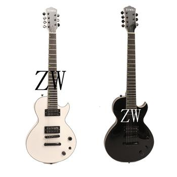 Top Quality Zuwei 7 Strings Electric Guitar Bone Nut Great Pickups Green Inlay Grover Tuner image
