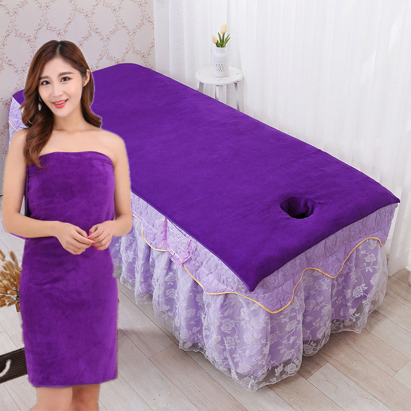 Beauty Salon Bed Towel Openings With Hole Bath Towel Than Cotton Soft Absorbent Physiotherapy Massage Sheet