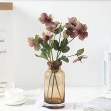 1 sztuk sztuczne róże kwiatowe kwiat dla panny młodej oddział na świąteczne dekoracje ślubne domu sztuczne kwiaty kwiat z jedwabiu tanie tanio KC0247 Róża Kwiat Oddział Ślub Z tworzywa sztucznego