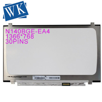 "Free shipping Genuine  Laptop 14"" N140BGA-EA4 N140BGA EA4 LCD Screen Display Panel 1366*768 30 pins Replacement"