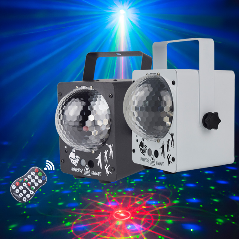 WUZSTAR LED DJ Lights 60 Patterns Disco Laser Projector Party Light Magic Ball Stage Laser Lighting For Wedding Festival