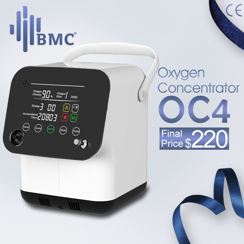 BMC Portable Oxygen Concentrator Mini Oxygen Machine 1-6L/min Adjustable For Sleep Air Purifier Household Health Monitor