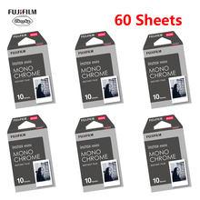 10-60 folhas fujifilm instax mini 9 filme monocromático fujifilm câmera instantânea 7 8 9 25 50s 70 90 sp smartphone impressora fotográfica papel