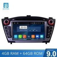 Besina Android 9.0 Car DVD Player for Hyundai Tucson/IX35 2011 2012 2013 GPS 2Din Car Radio Stereo Multimedia Autoaudio WIFI RDS