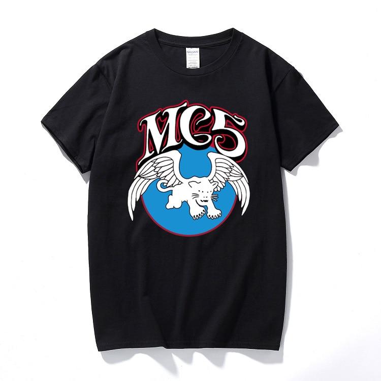 Situation Comedy Friends T Shirt Punk Band Motor City MC5 Fashion Print T-shirt Hip Hop Tee Shirt Homme Cotton Short Sleeved