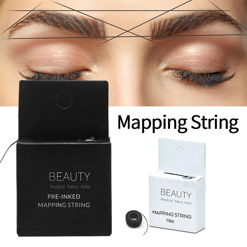 Microblading Supplies Eyebrow Marker Thread Tattoo Brows Point 10m Pre Inked Brow Tattoo Pre-Inked Mapping String Eyebrow Thread