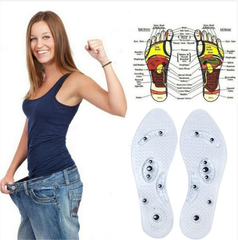 Slimming Insoles Magnetic Therapy For Weight Loss Insole Anti Fatigue Massage InsolesFoot Care Shoes Pad Silicone Gel Inserts