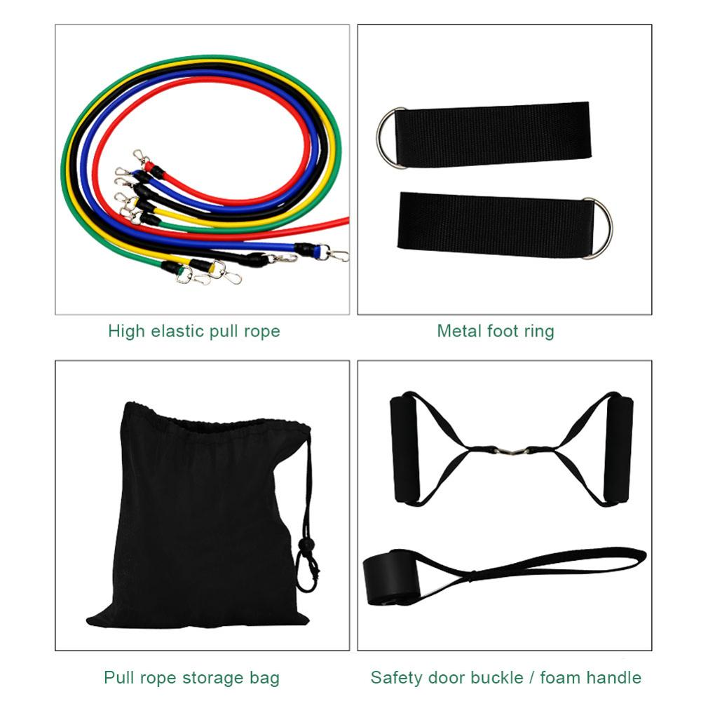 17 Pcs/Set Latex Resistance Bands Crossfit Training Exercise Yoga Tubes Pull Rope,Rubber Expander Elastic Bands Fitness with Bag 2
