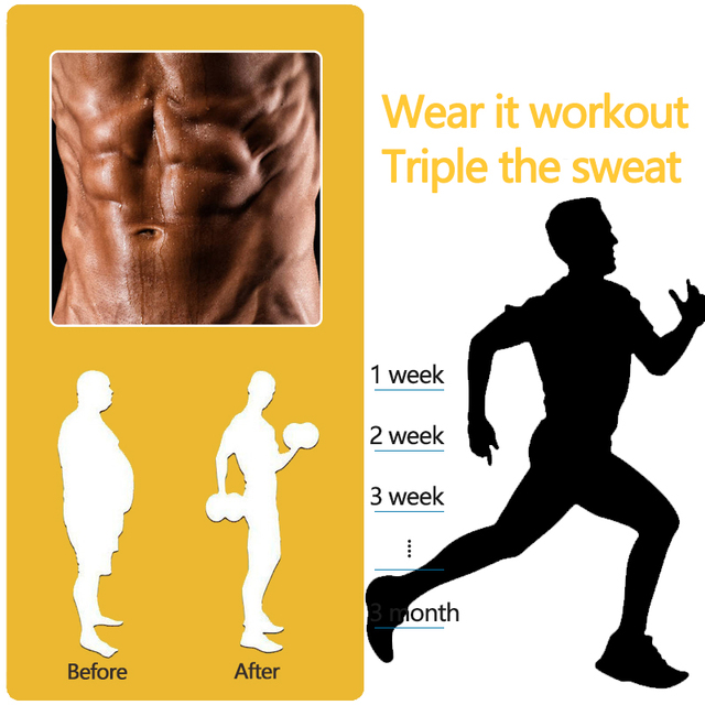 Sweat Waist Trainer Gym Belly Fat Burning Sauna Slimming Belt Shapewear Waist Cincher 4