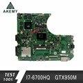 Akemy N552VW Laptop motherboard für ASUS N552VW N552V N552 Test original mainboard I7 6700HQ GTX950M 2G-in Motherboards aus Computer und Büro bei