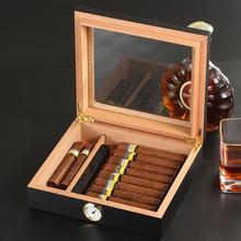 Cedar Wood Cigar Travel Humidor Box Portable Cigar Case W/ Humidifier Hygrometer Cigar Humidor Sigaren Box For COHIBA Cigars