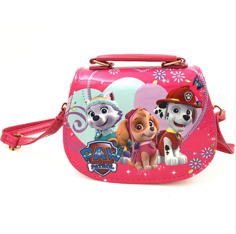 Новая PU сумка Щенячий патруль, Милая мини-сумка Снежной королевы, Детские Мультяшные сумки-мессенджеры для девочек, детская сумка-тоут, сумк...