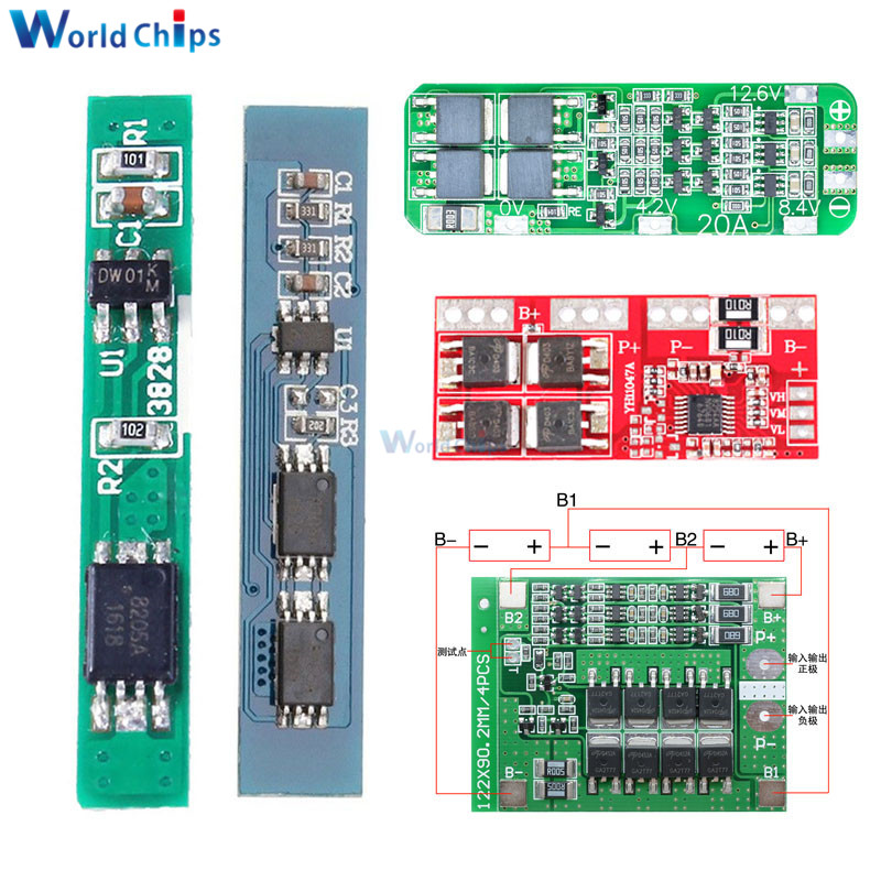 1S 2S 3S 4S 3A 15A 20A 30A Li-ion Lithium Battery 18650 Charger PCB BMS Protection Board For Drill Motor Lipo Cell Module 5S 6S image