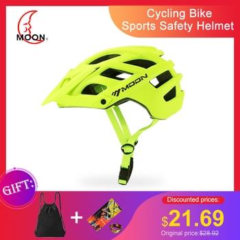 MOON Casco mbt Cycling Bike Sports Safety Helmet OFF-ROAD Mountain Bicycle Helmet Outdoors Riding Helmet casco bicicleta hombre