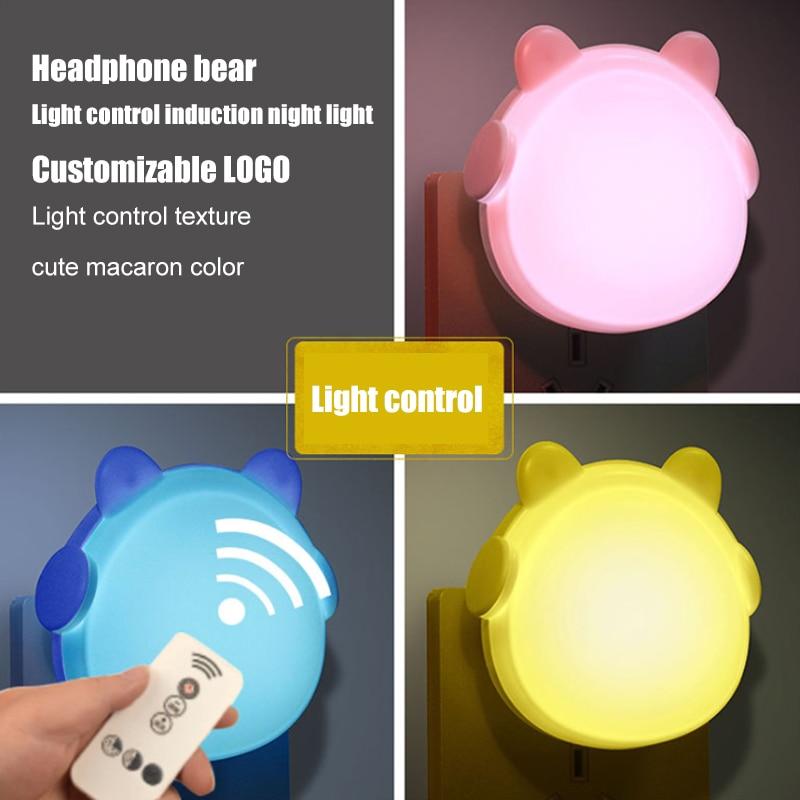 New Strange Night Light With Lamp Light Control Sensor Wall Lamp LED Lamp Intelligent Children Light USB Charger Warm Hand Bao