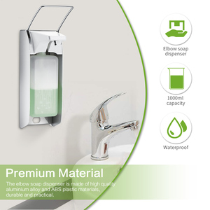 Image 2 - Liquid Soap Dispenser Elbow Press Disinfectant Dispenser Wall Mounted Soap Pumps Soap Dispenser For Home School Hotel Hospital
