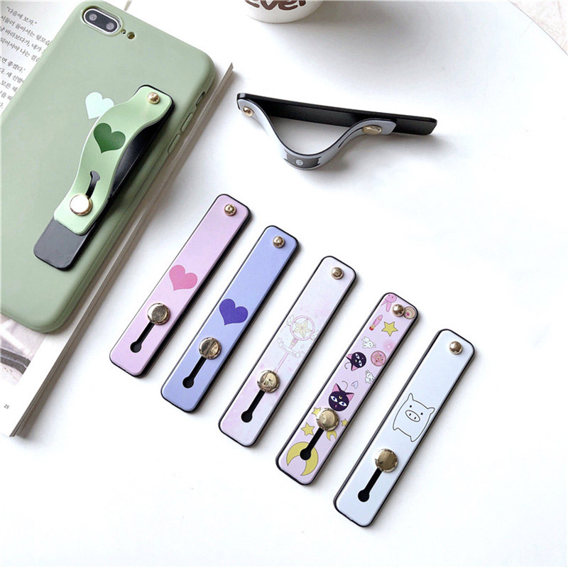 Cute Cartoon Holder Strap For Mobile Phone Stand Holder For IPhone X 8 7 Plus For Samsung Phone Case Telescopic Paste Grip Stand