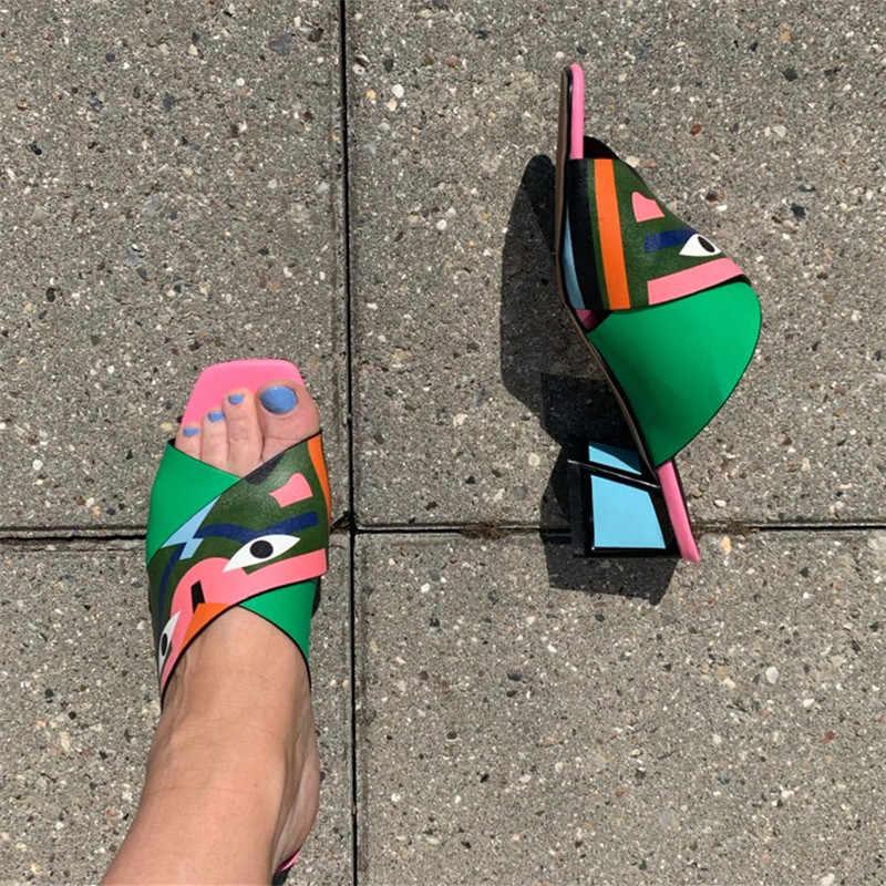 FEDONAS seksi kadınlar yüksek topuklu moda baskılar parti düğün ayakkabı kadın konfor kaliteli PU deri yaz sandalet pompaları