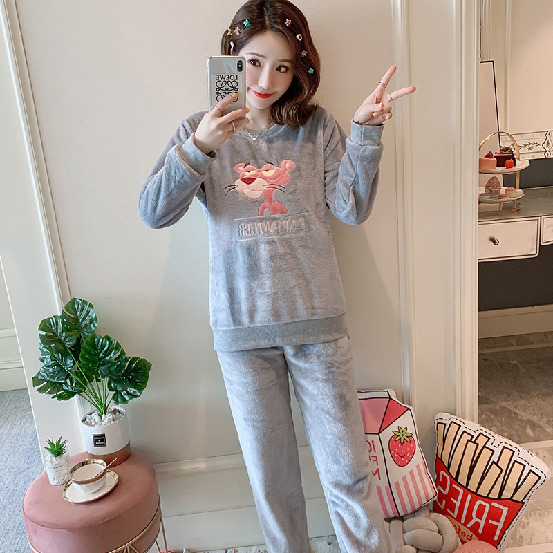 Betyline 2019 New Winter Pajamas For Women Sleepwear Warm Flannel Long Sleeves Pajamas Cute Animal Homewear Thick Homewear 164