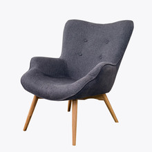 Mid Century Modern Relaxed Armchair Contour Chair Living Room Furniture Muted Fabric Arm Chair Fabric Upholstery Accent Chair giantex living room accent leisure chair modern fabric upholstered arm chair single sofa chairs home furniture hw54386
