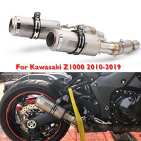 Z1000 Motorcycle Exhaust System Tip Escape Muffler Connector Link Tube Slip on Full Pipe for Kawasaki Z1000 2010 2019