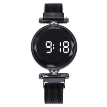 2020 New Led Women Men Watch Fashion Touch Screen Women Wristwatch Magnet Band S