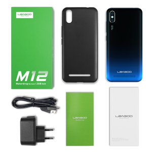 Image 3 - Leagoo M12 אנדרואיד 9 MT6739ww Quad Core 2GB RAM 16GB ROM 5.7 אינץ IPS 3000mAh 5V /1A מטען מהיר פנים מזהה mobilephone