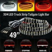 лучшая цена 6-Modes 324LED Pickup Truck Tailgate Light Bar Strip 3Row Reverse Brake Signal Tail 7500K 4PIN PVC Truck LED Light Accessories