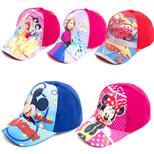 Caps Baseball-Cap Princess-Hats Cars Elsa Mickey Baby-Girls Kids Boys Minnie Children