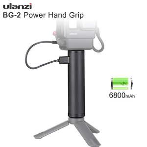 Ulanzi BG-2 6800mAh Power Grip Stick for Gopro 7 6 5 Black Osmo Pocket Action Vlog Selfie