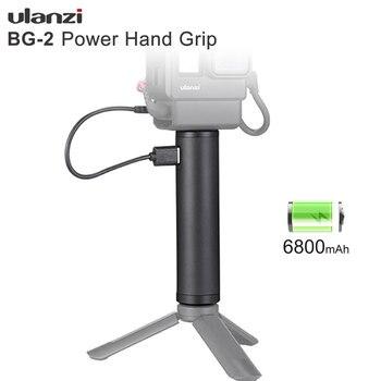 Ulanzi BG-2 6800mAh Power Grip Stick for Gopro 7 6 5 Black Osmo Pocket Action Vlog Selfie Stick Handgrip Type-C Power Supply