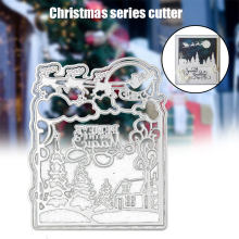 Merry Christmas Carbon Steel Cutting Dies Scrapbook Paper Craft Emboss Punch Stencil Mold LBShipping(China)