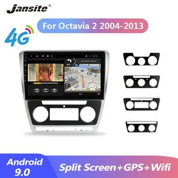 Jansite Car Radio 4G Android 9.0 player For SKODA Octavia 2 A5 2008-2013 2G+32G Multimedia Video Player GPS Navigation 2 Din DVD