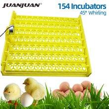 Capacidade automática da incubadora do ovo 56/154 bandeja de ovo de frango pato plástico bandejas incubadora incubação com auto turn motor 30% de desconto