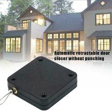 Capteur automatique sans perforation, pour toutes les portes, boîte pour câbles télescopiques