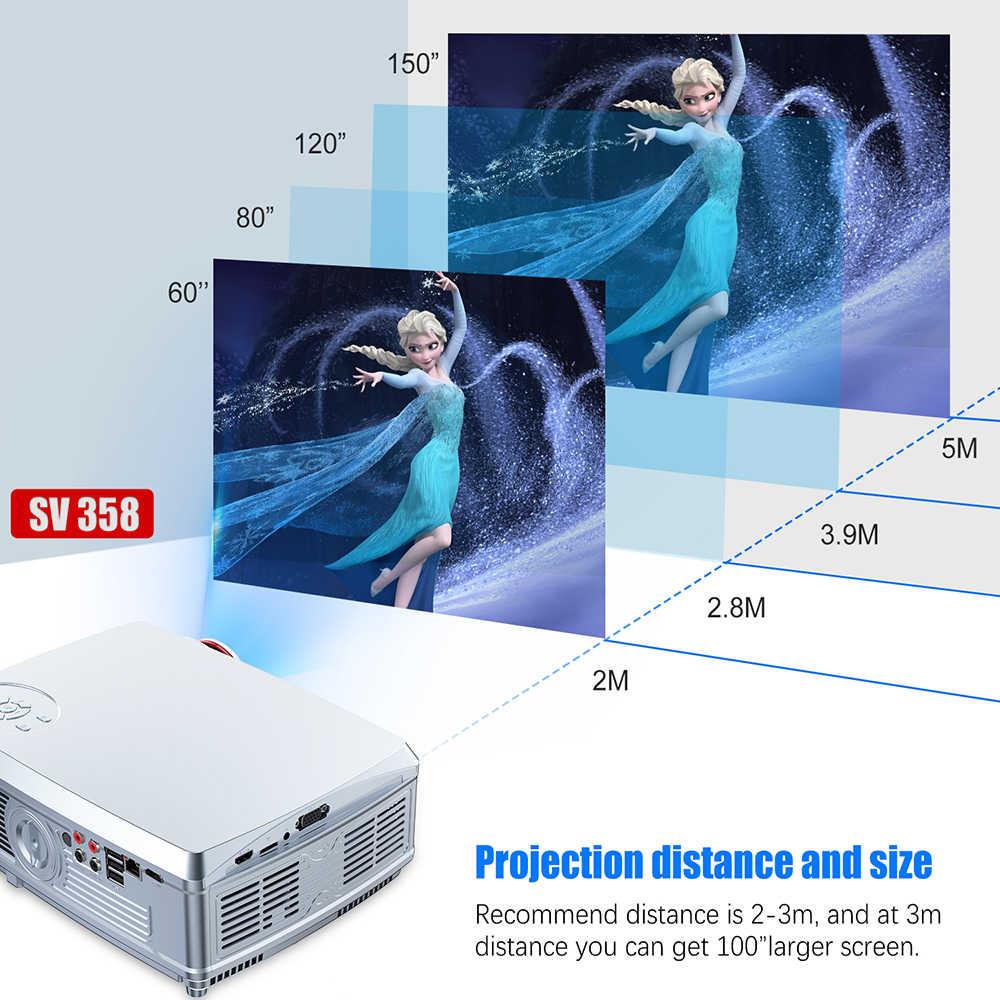 Güçlü tam HD projektör 1920*1080P LED proyector Android 7.1(2G + 16G) wifi Bluetooth ile AC3 desteği 4K ev sineması Beamer