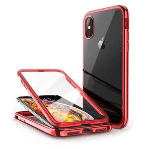 Image 5 - SUPCASE dla iPhone X Xs Case UB Electro Full Body przezroczysty Glitter Slim hybrydowy pokrowiec z wbudowanym ochraniaczem ekranu