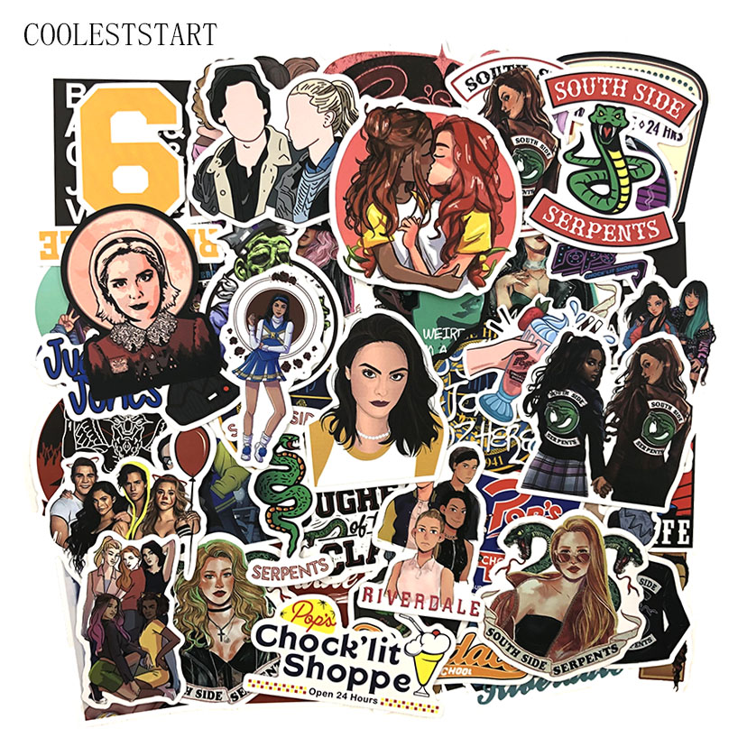 50 Pcs/set Riverdale American TV Stickers For Refrigerator Motorcycle Phone Skateboards Laptop Luggage Bicycle Anime Stickers