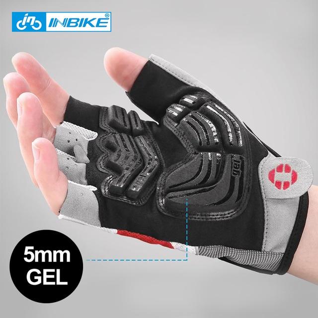 Ινβικε αντικραδασμικά γάντια ποδηλασίας ανοιχτών δαχτύλων με επιφάνεια από τζέλ ανδρικά γυναικεία