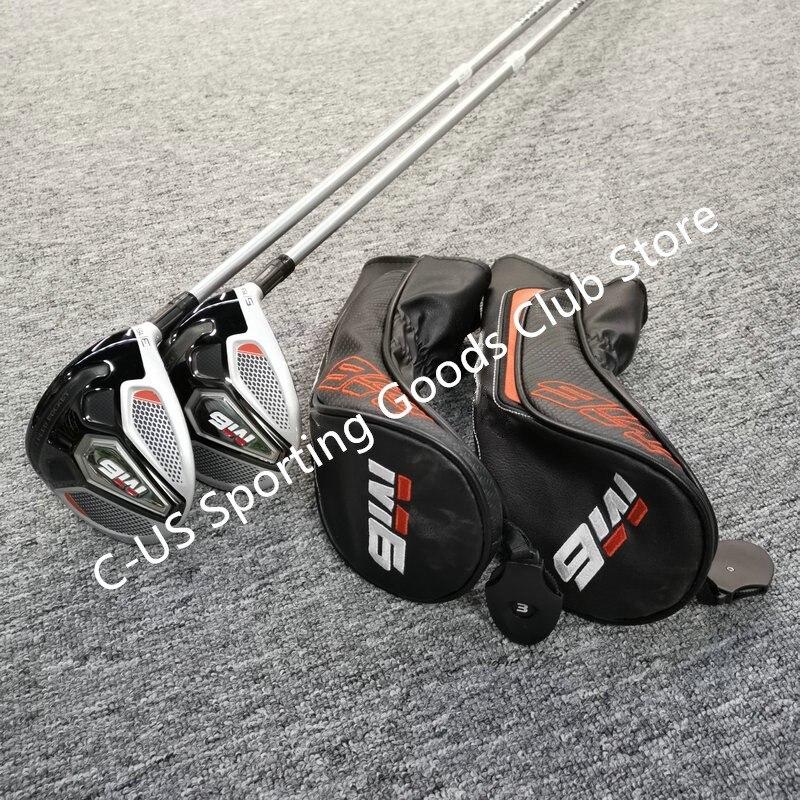 Golf Kulüpleri 2019 Model M6 NO. 3 Ahşap Ve No.5 Ahşap Grafit Golf Mili R Veya S Flex Kulüpleri Sürücü ücretsiz Kargo
